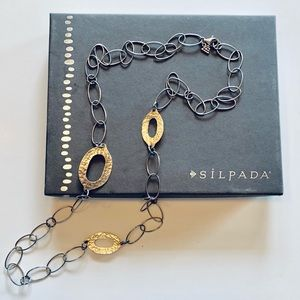 Silpada Sterling Silver Oval Link Necklace